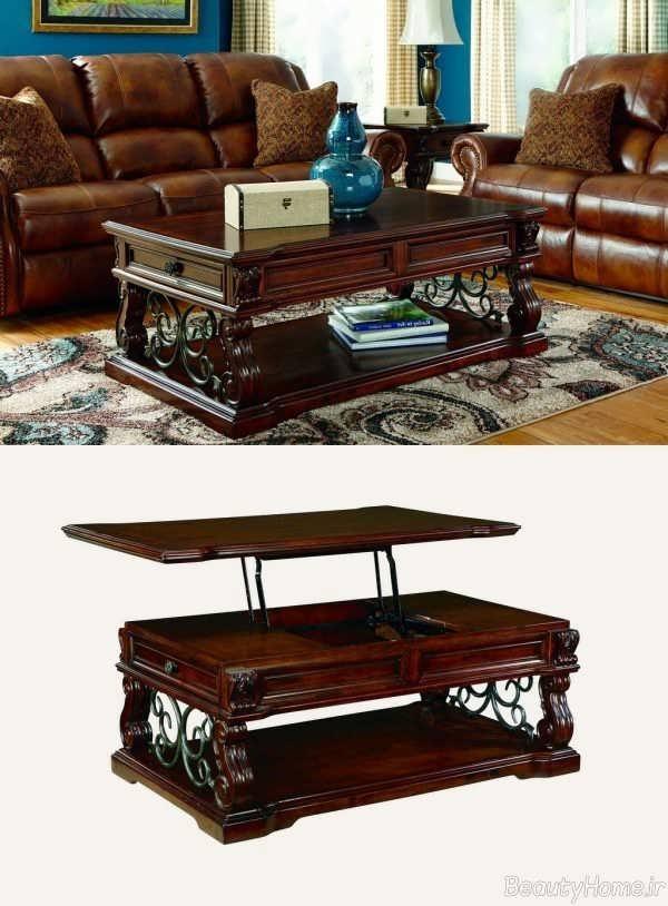 انواع مدلهای میز جلو مبلی شیک و چند کاره