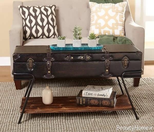 انواع مدلهای میز چوبی جلو مبلی