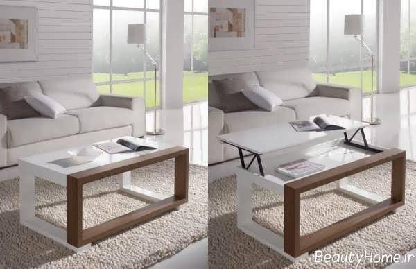 انواع مدلهای میز جلو مبلی شیشه ای