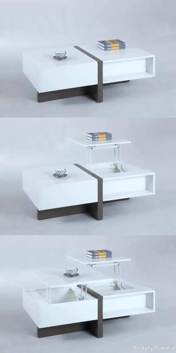 انواع مدلهای میز جلو مبلی چند کاره ام دی اف
