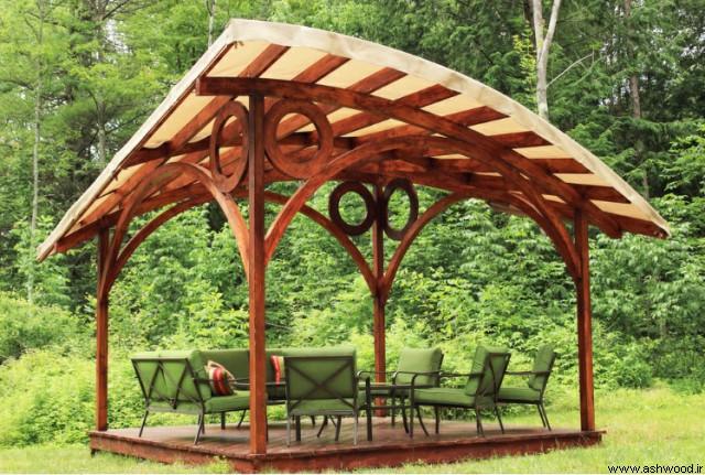 ساخت آلاچیق چوبی جالب